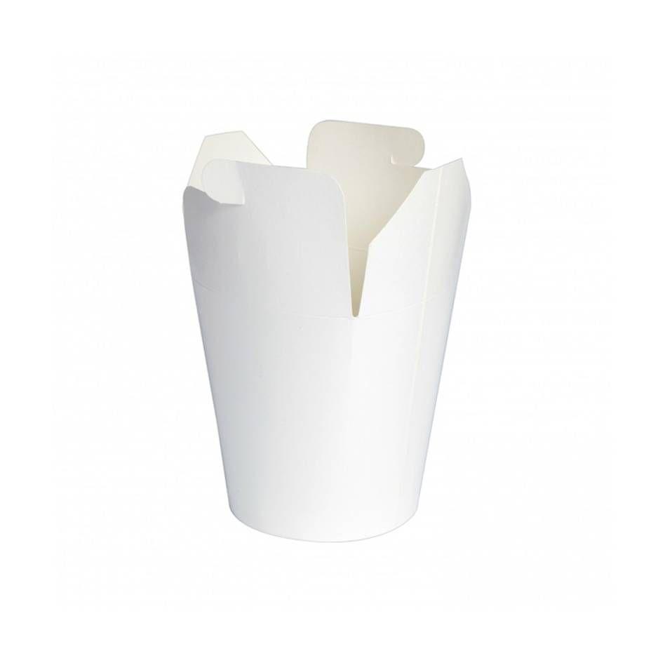 Pot carton blanc base ronde fermeture à boucle papillon 75 cl Par 50