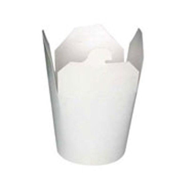 Pot carton blanc base ronde fermeture à fente 95 cl Par 50