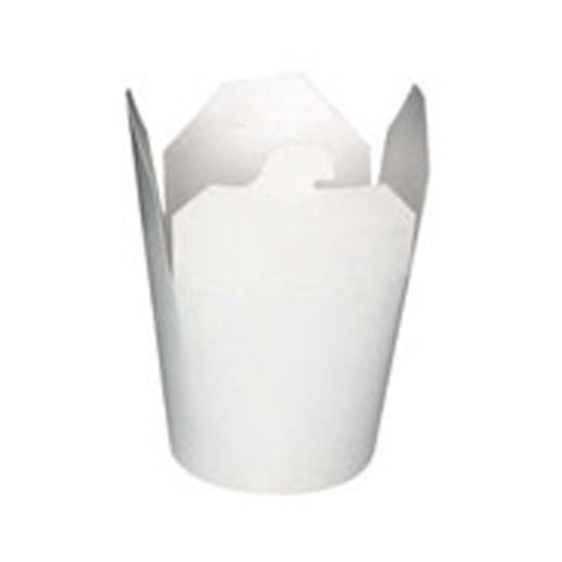 Pot carton blanc base ronde fermeture à boucle papillon 23 cl Par 50