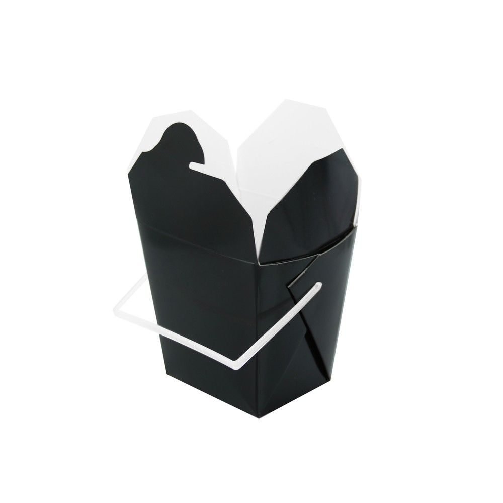 Boîte carré noir avec anse 21,5g Par 50 unités