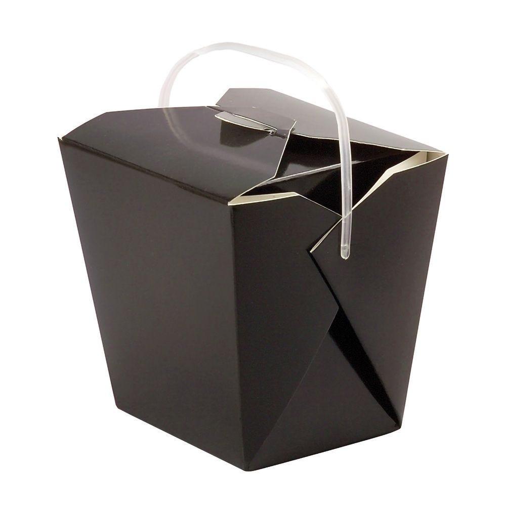 Boîte carré noir avec anse 27,3g Par 50 unités