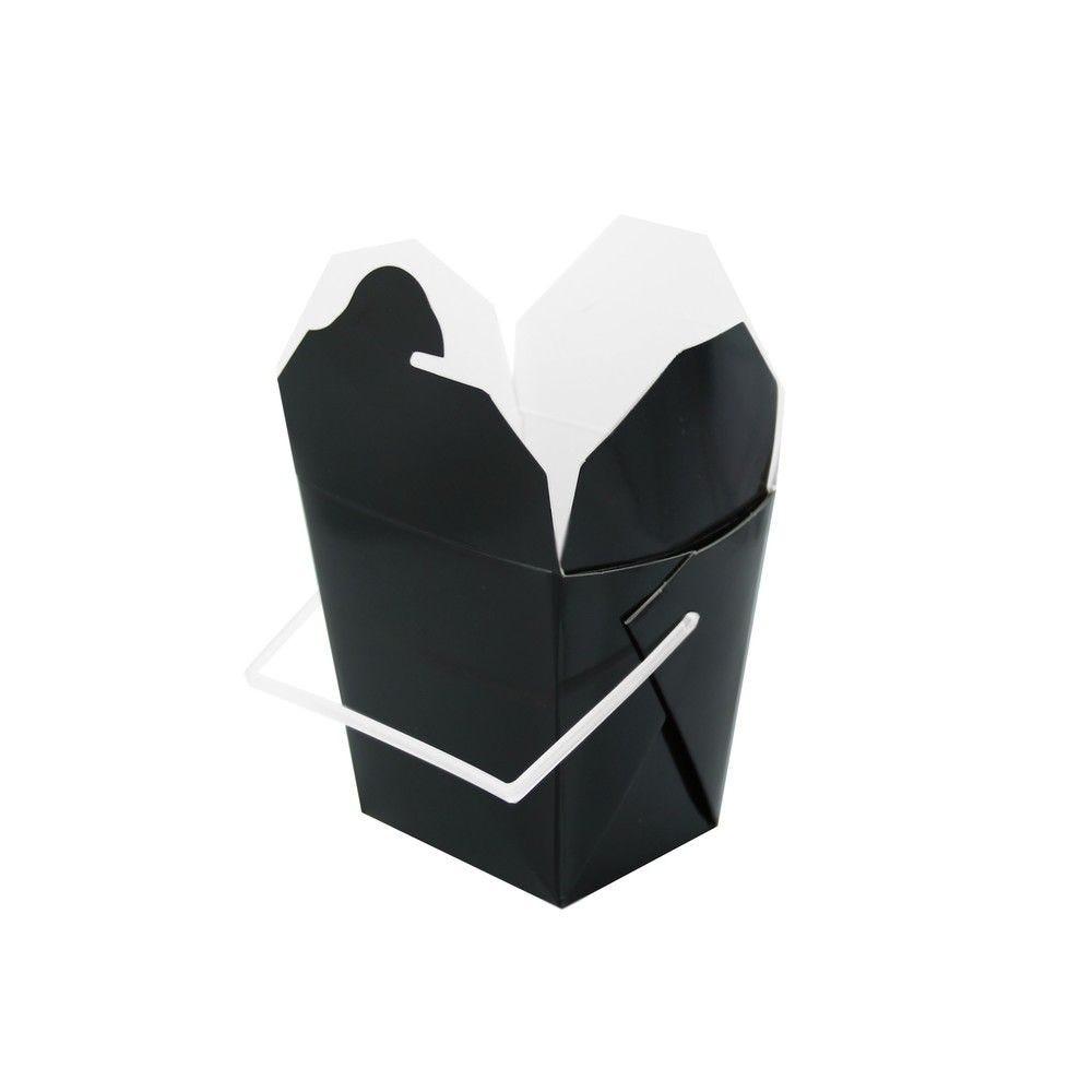 Boîte carré noir avec anse 32g Par 50
