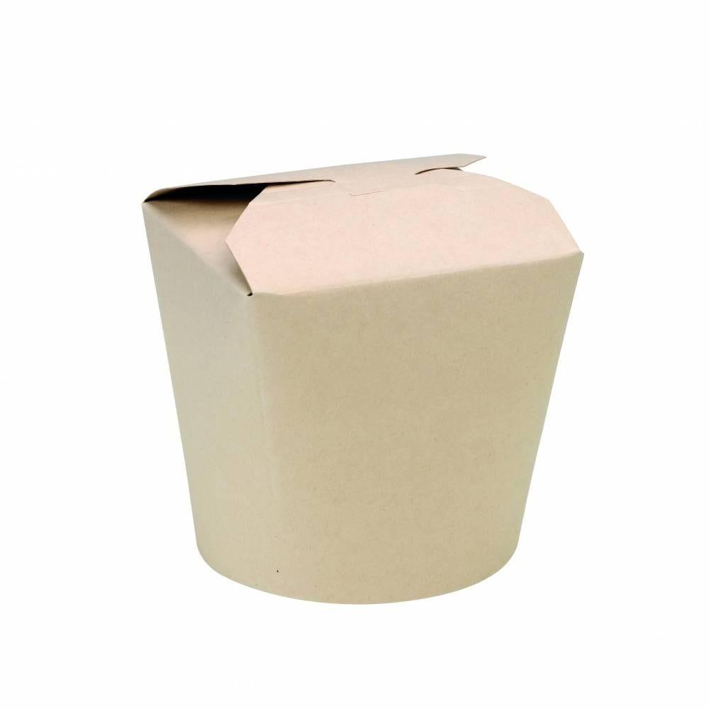 Pot carton fibre de bambou laminé PLA base ronde 75 cl Par 50