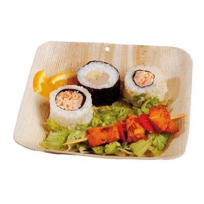 Assiette carrée en palmier 17 cm Par 25