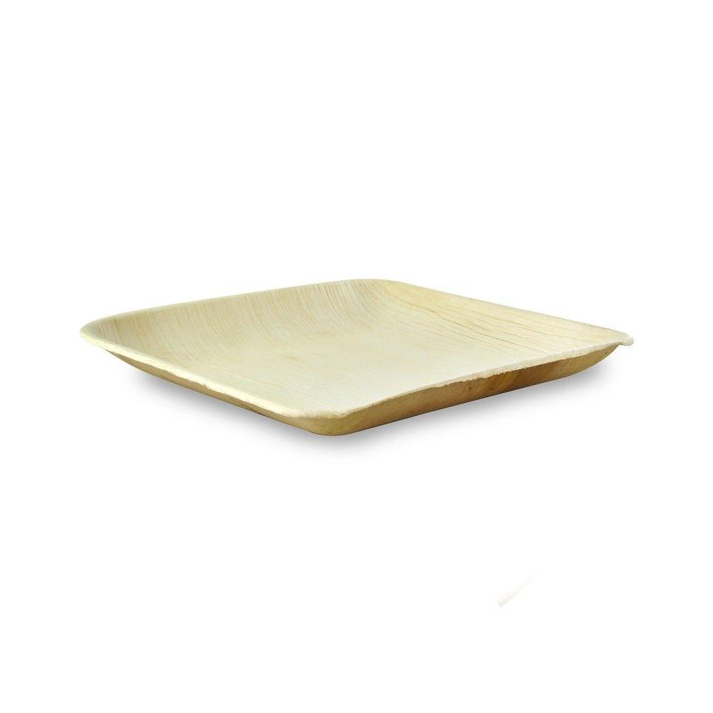Assiette carrée en palmier 20 cm Par 25