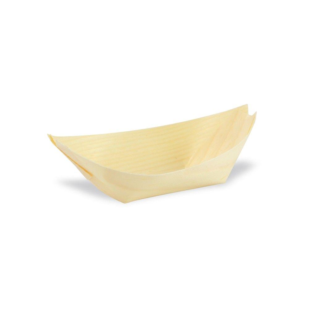 Barquette bateau bois 10,5 x 7,5 cm Par 100