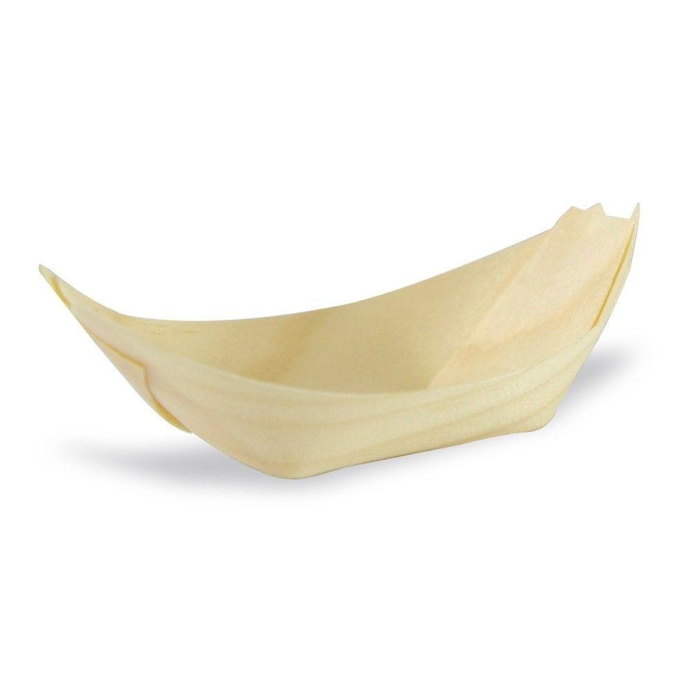 Barquette bateau bois 7,5 x 5 cm Par 50