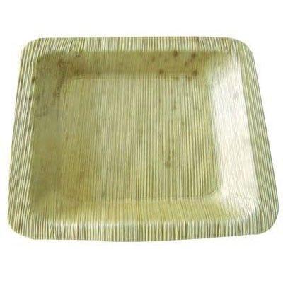 Assiette carrée en feuille de bambou 'Zebra' 12 cm Par 10