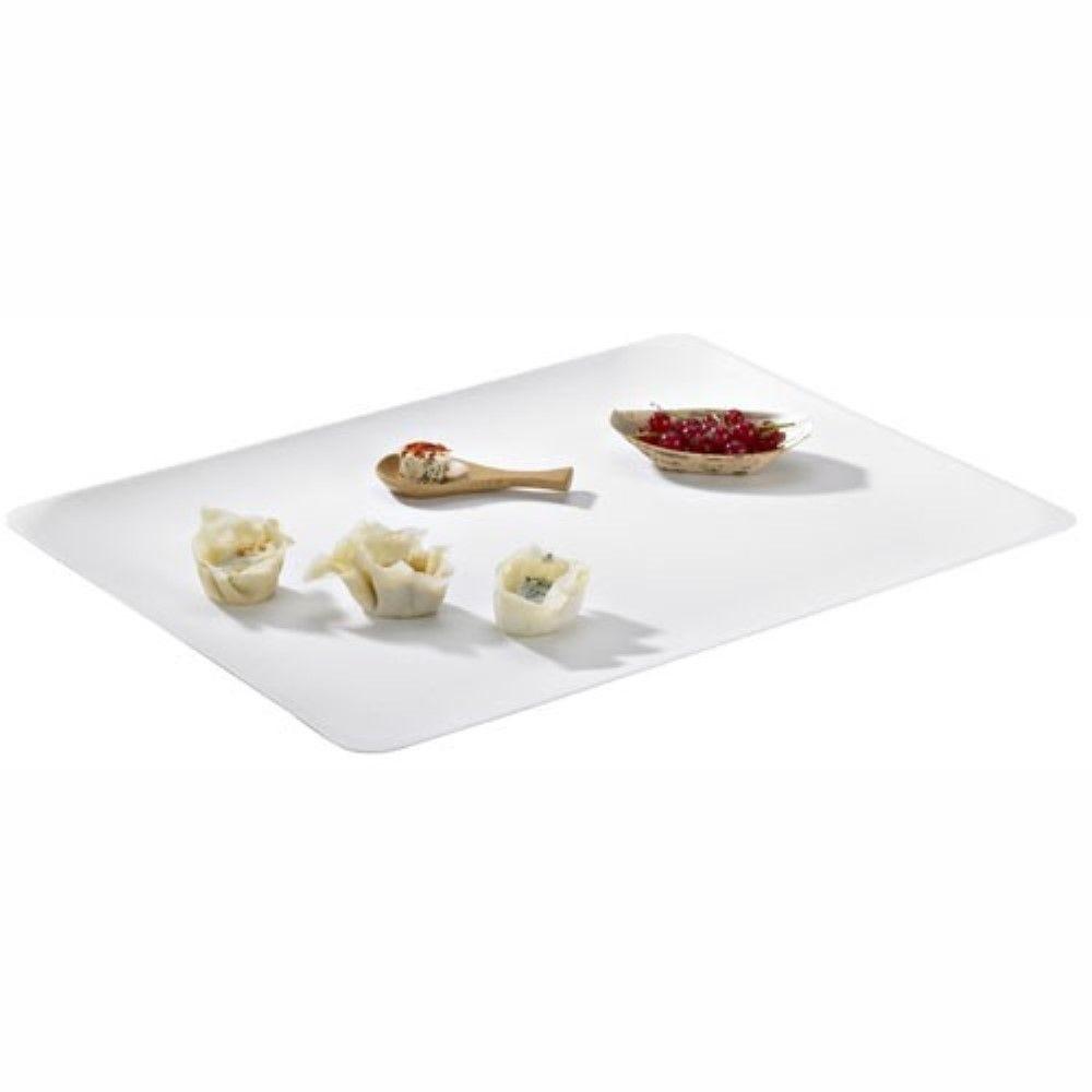 Assiette carrée blanche en pulpe 'BioNChic' 18 cm Par 100