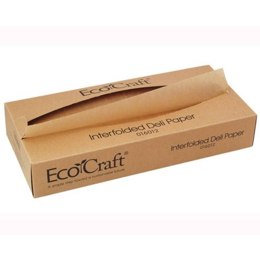 Papier brun ingraissable enchevêtré en boîte distributrice 27 x 20 cm Par 500