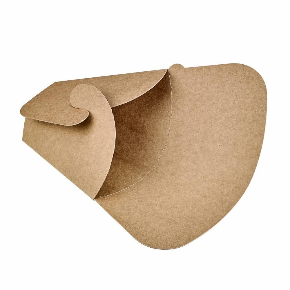 Pochette crêpe triangulaire en carton brun 14,5 x 6,5 x 18,5 cm Par 50