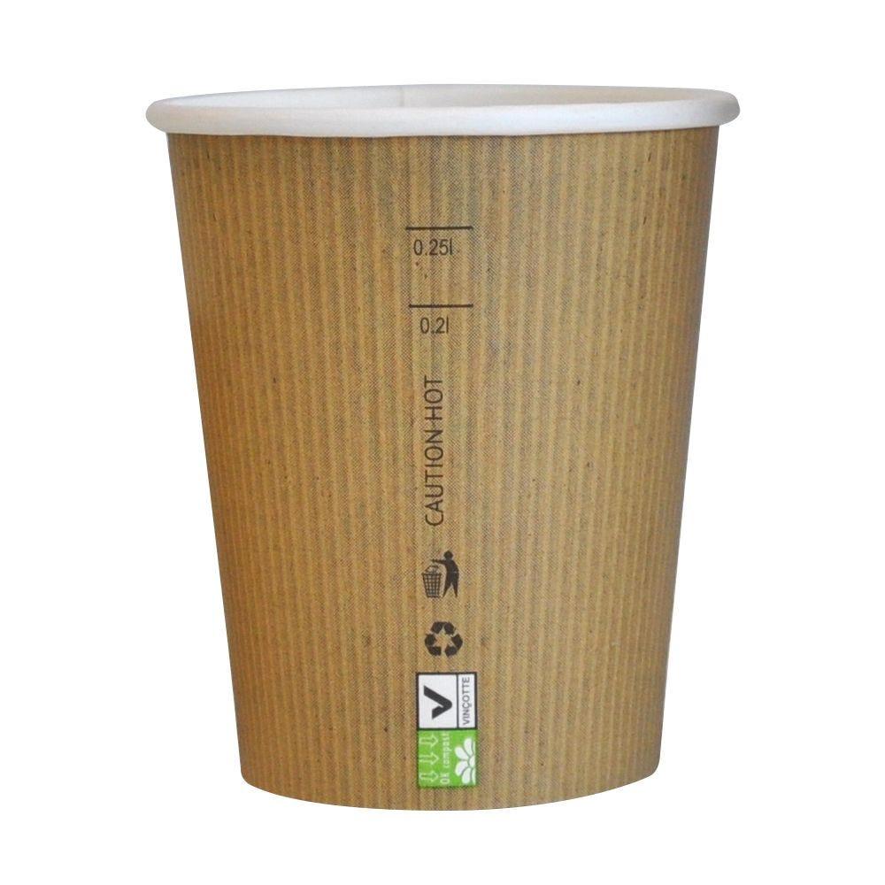 Gobelet carton PLA 'Nature Cup' 23 cl Par 50