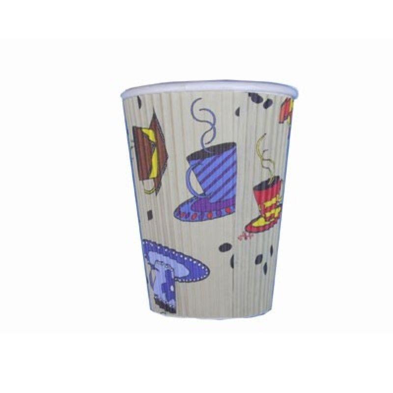 Gobelet carton double paroi décor 'Tea Cup' 35 cl Par 25