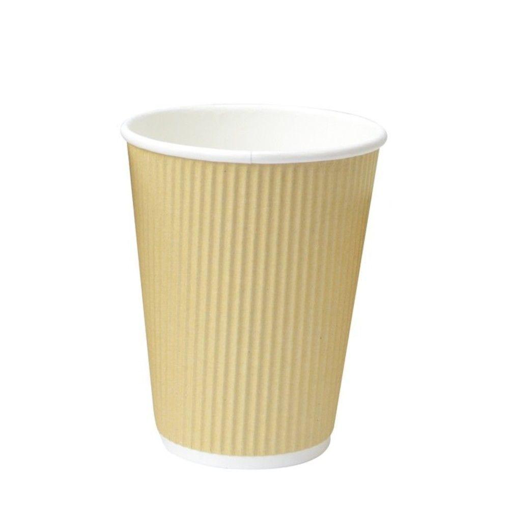 Gobelet carton double paroi beige 'Rippley' 45 cl Par 25