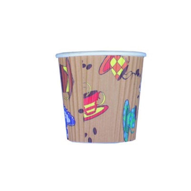 Gobelet carton double paroi décor 'Tea Cup' 12 cl Par 50
