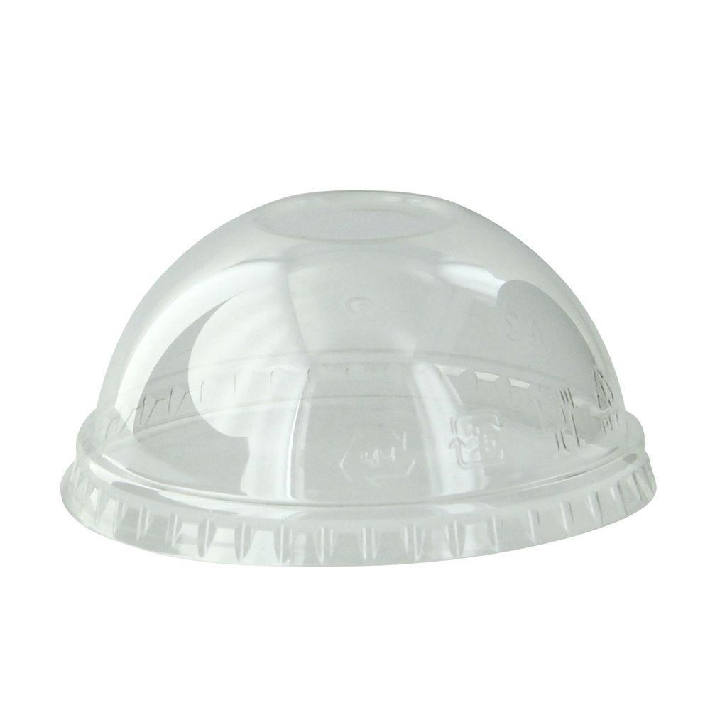Couvercle PET transparent dôme 7,4 cm Par 50