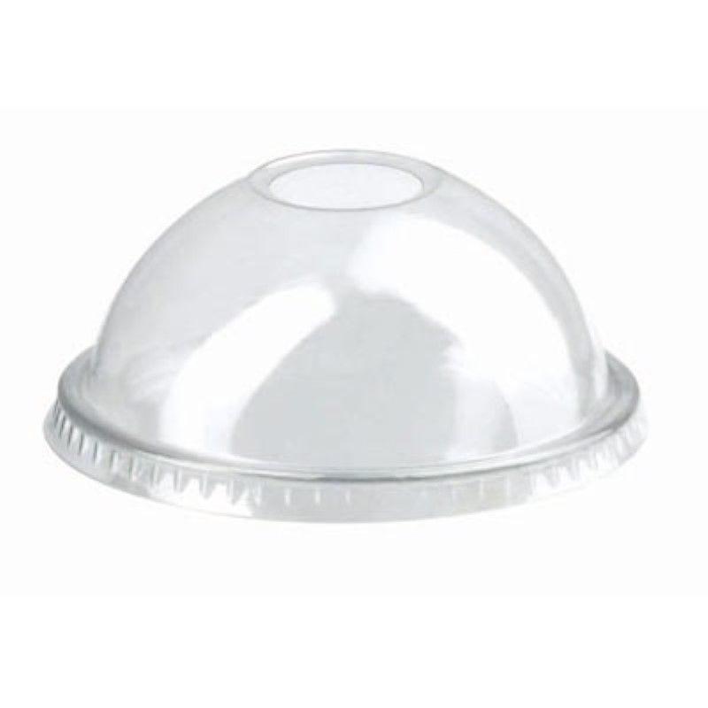 Couvercle PET transparent dôme avec trou 7,4 cm Par 50
