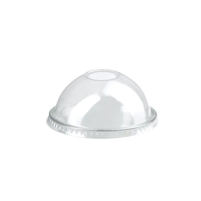 Couvercle PET transparent dôme avec trou 7,7 cm Par 50