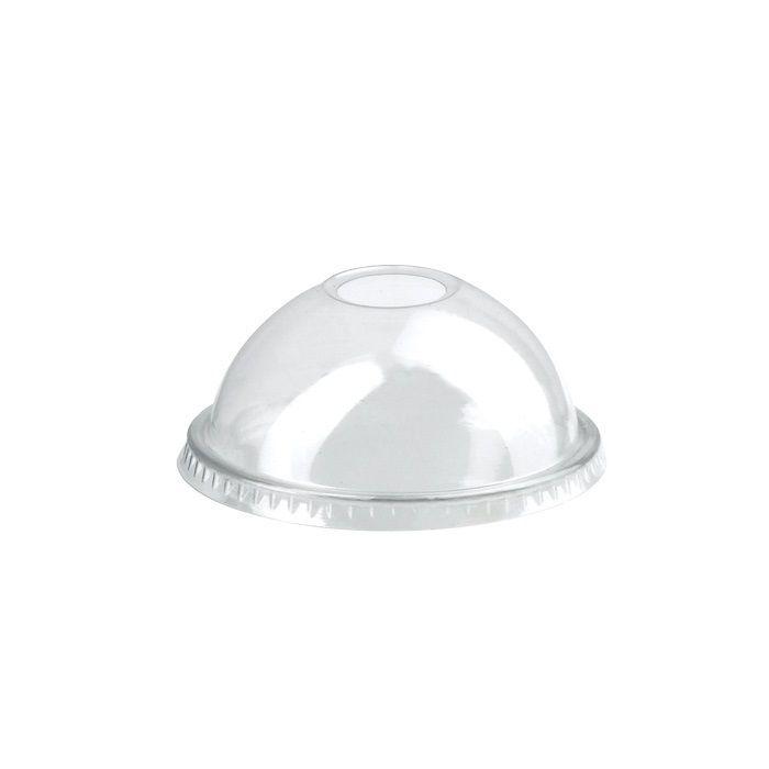Couvercle PET transparent dôme avec trou 8,4 cm Par 100