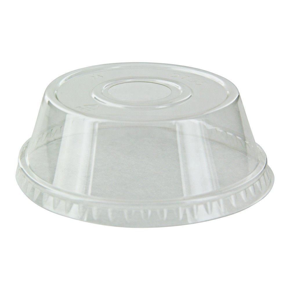 Couvercle PET transparent dôme 9,5 cm Par 100