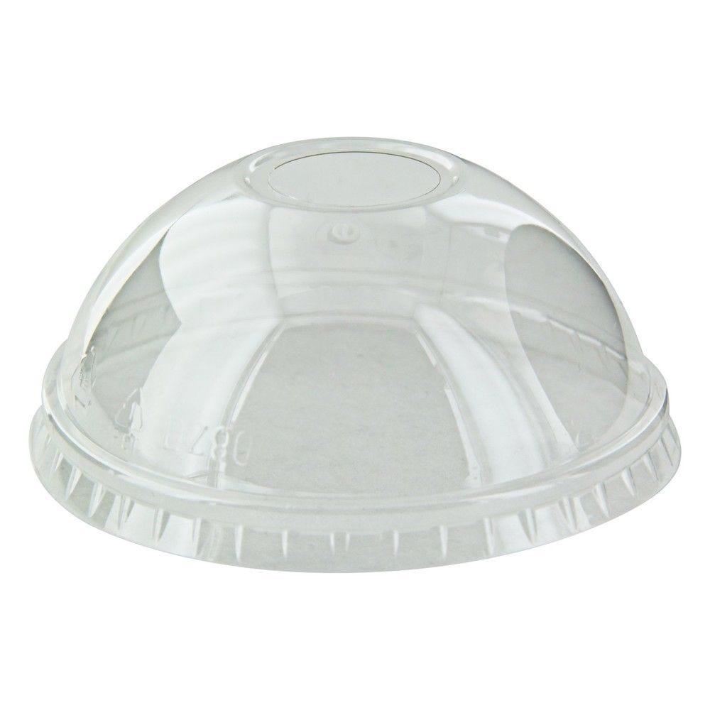 Couvercle PET transparent dôme 9 cm Par 100