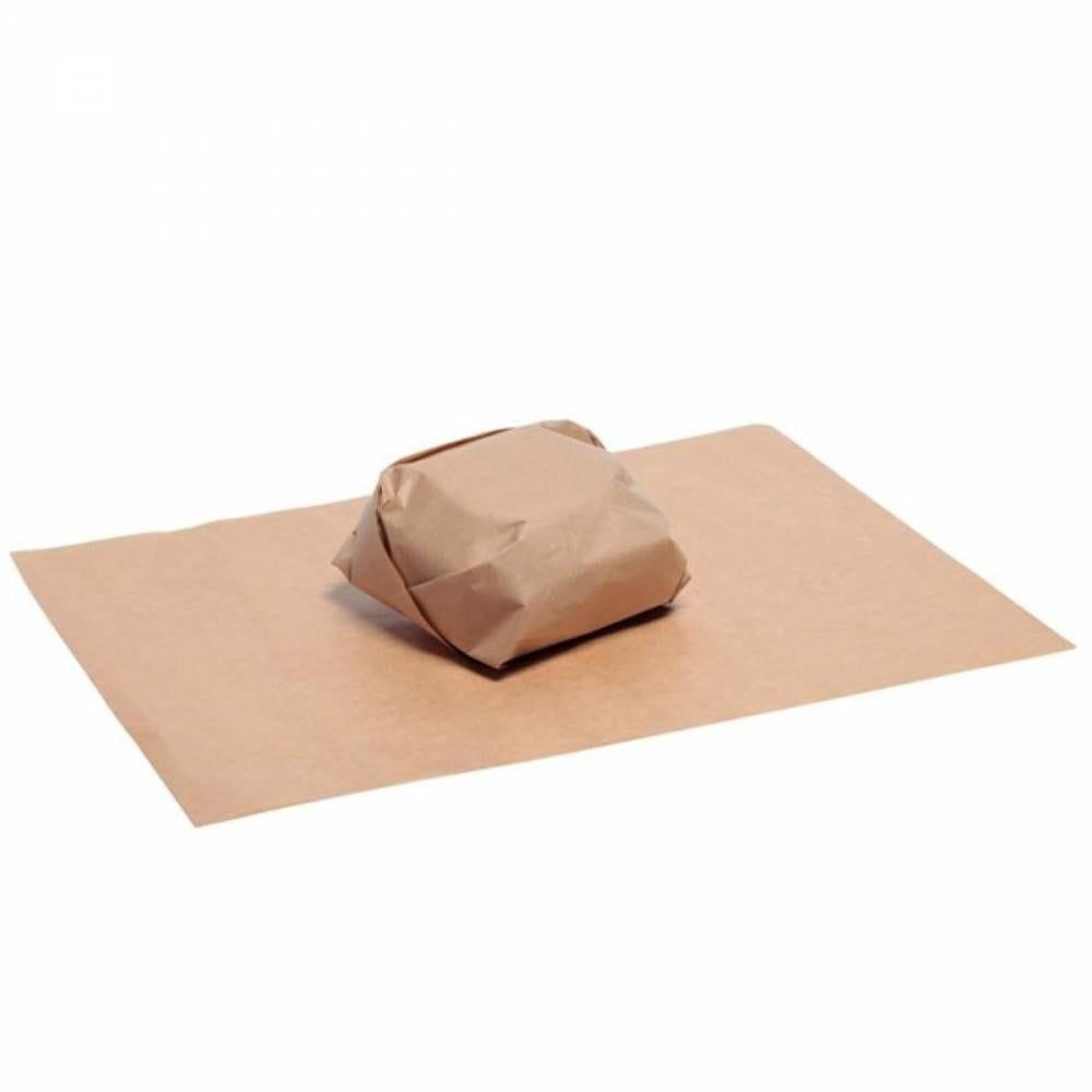 Papier brun ingraissable en boîte distributrice 35 x 27 cm Par 100
