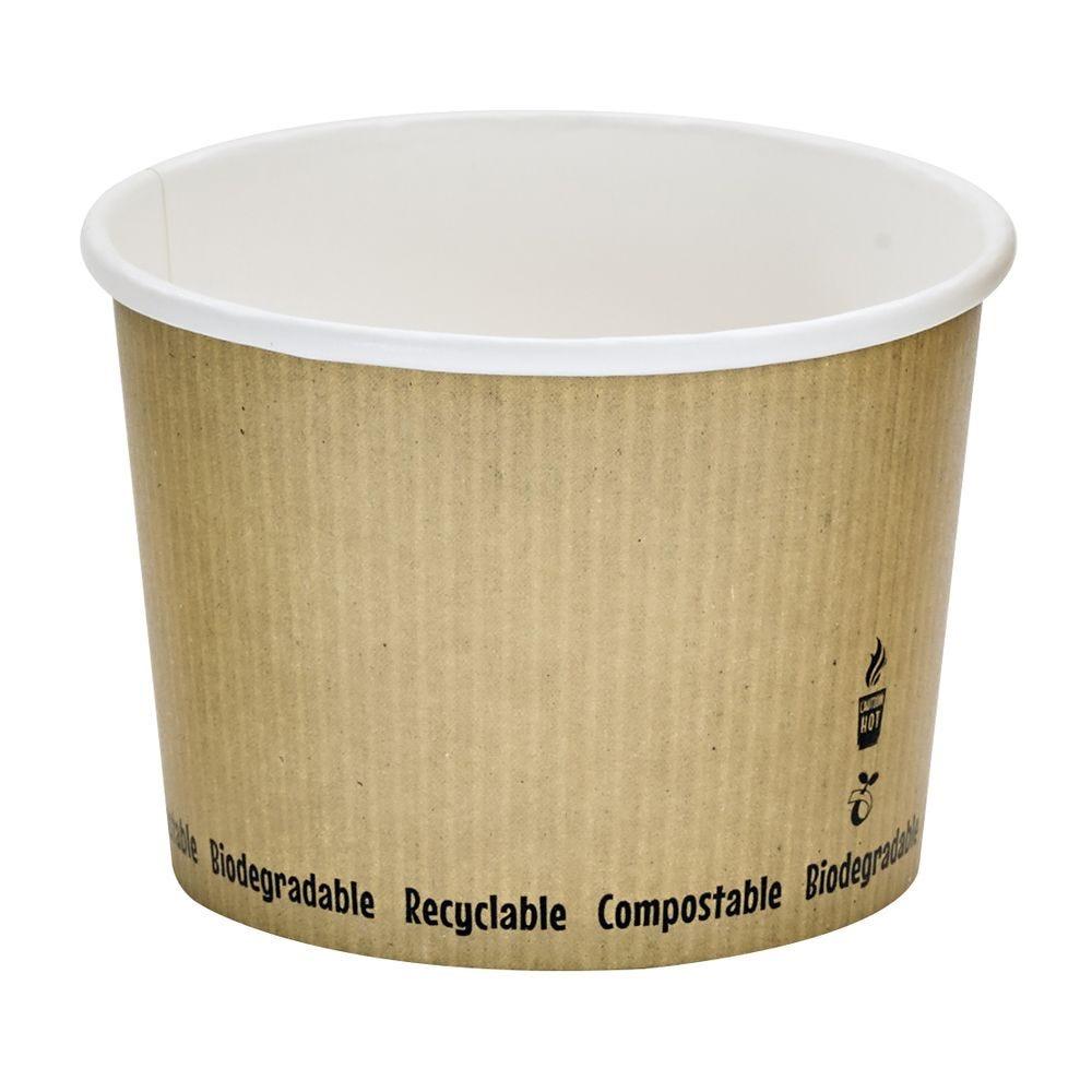 Pot carton blanc chaud et froid décor 'Nature' 45 cl Par 25
