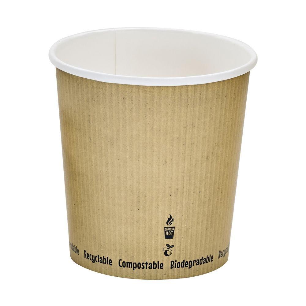 Pot carton blanc chaud et froid décor 'Nature' 70 cl Par 25
