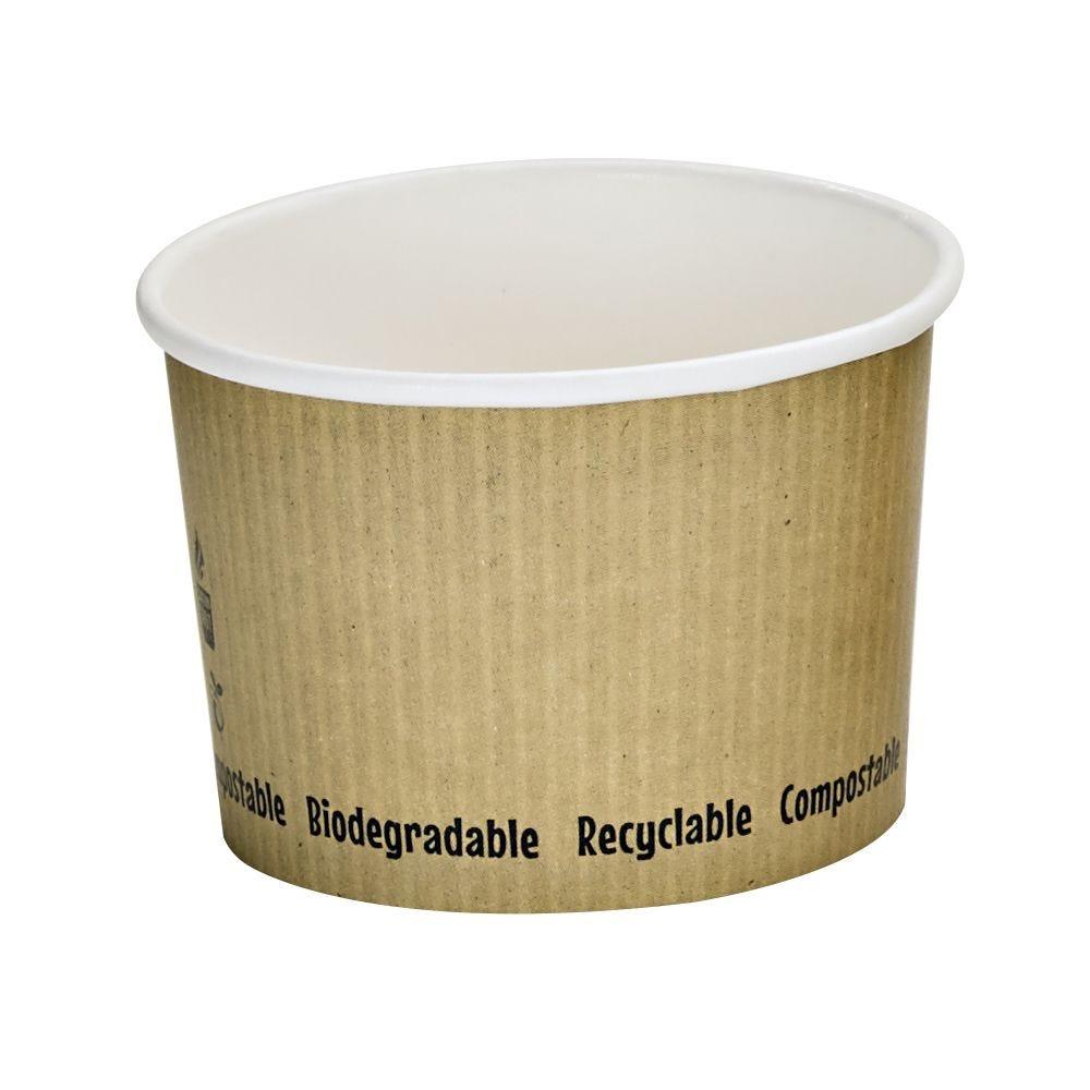 Pot carton blanc chaud et froid décor 'Nature' 23 cl Par 25