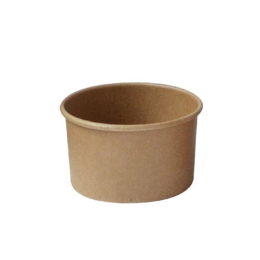 Pot carton kraft brun chaud et froid 7,4 cm 13 cl Par 50