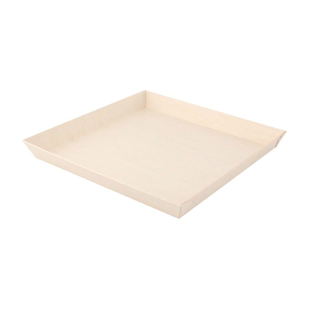 Barquette carrée en bois 'Samourai' 23 x 23 cm Par 25