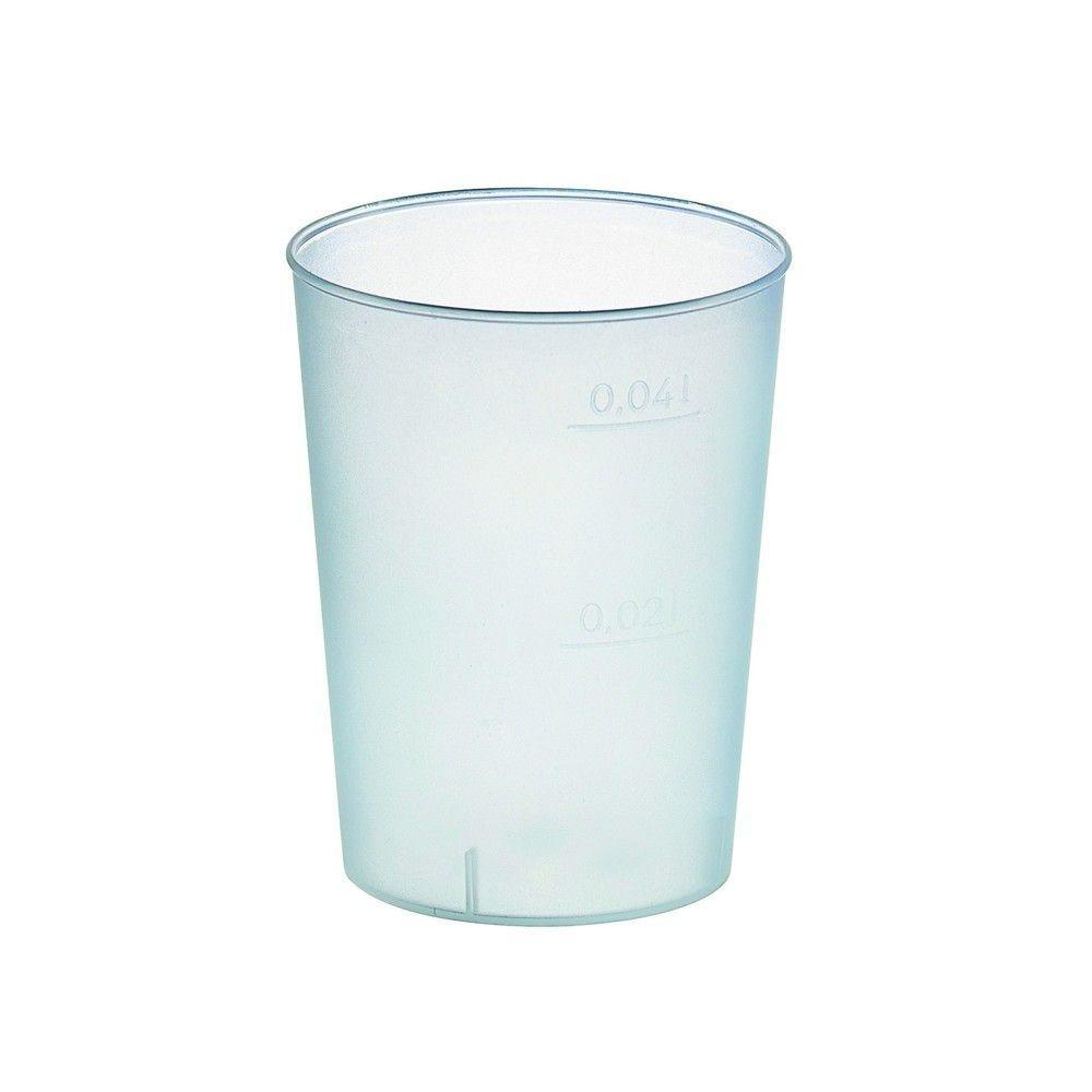 Gobelet plastique PP réutilisable 'Optimal' 2,9g Par 50 unités