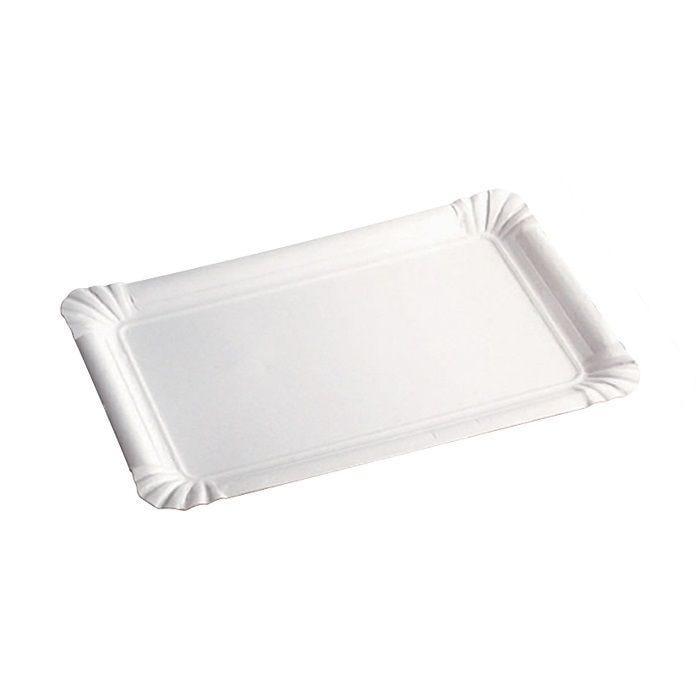Assiette carton blanc rectangulaire 10 cm Par 12