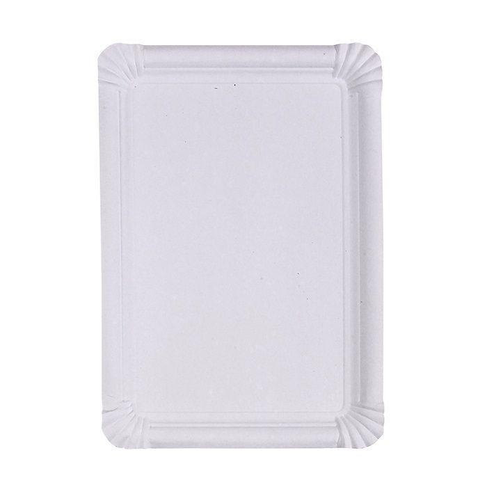 Assiette carton blanc rectangulaire 33 cm Par 4