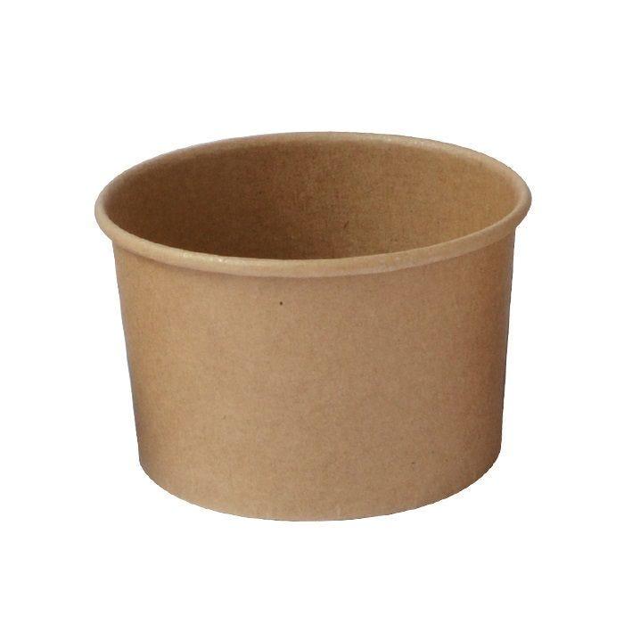 Pot carton kraft brun chaud et froid 18 cl Par 10