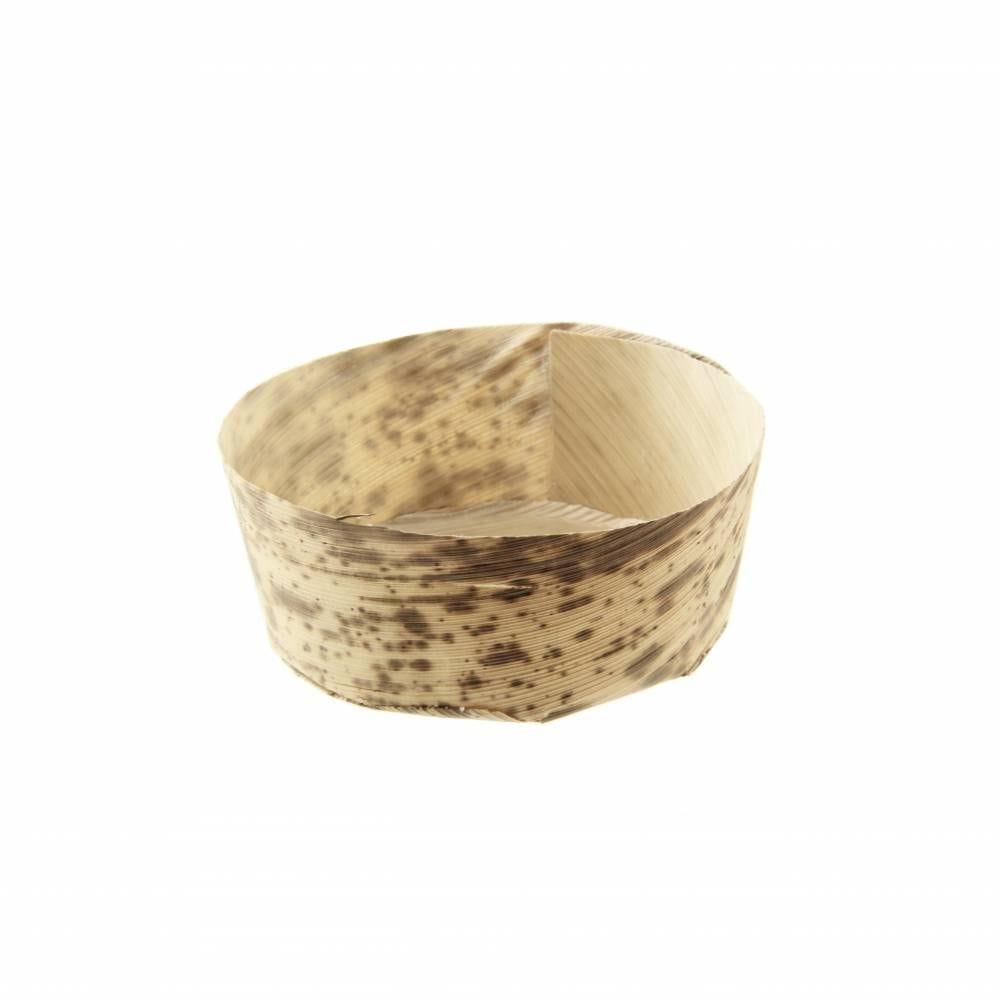 Panier rond en feuille de bambou 'Anno' 7 x 6,2 cm Par 50