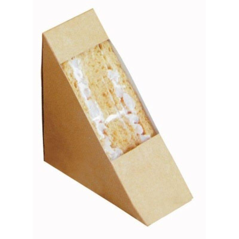 Triangle sandwich kraft simple à fenêtre 5,2 x 12,3 x 12,3 cm Par 50
