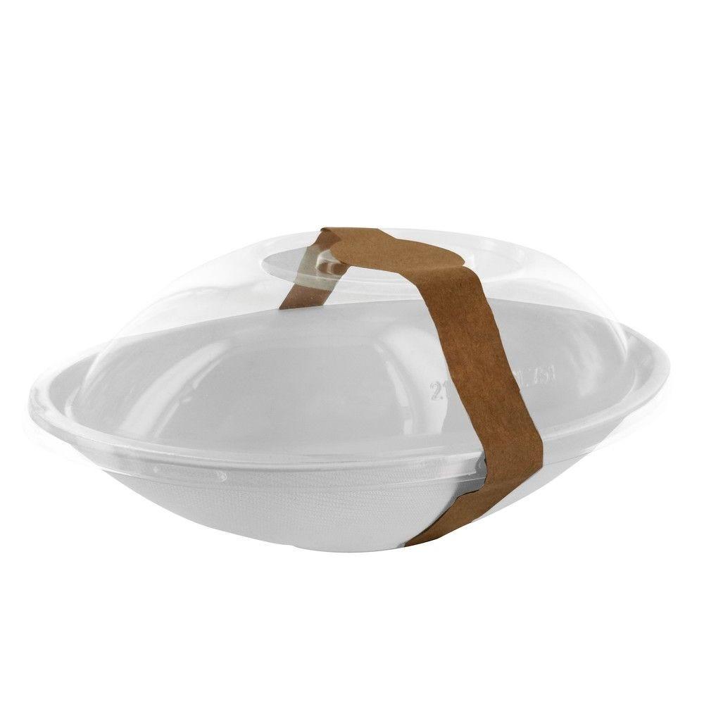 Bol ovale blanc en pulpe 'BioNchic' 75 cl Par 125