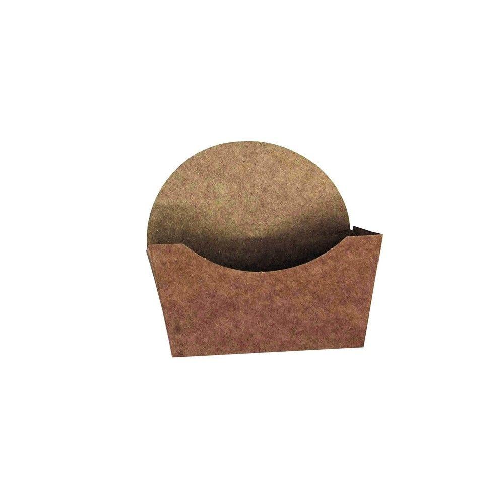 Emballage carton kraft pour bagel 10 x 3,7 cm Par 50