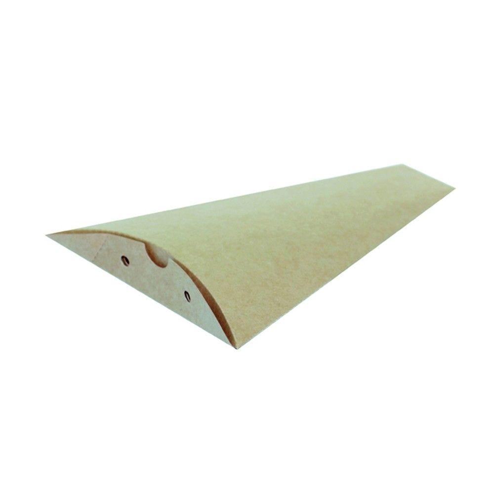 Pochette crêpe triangulaire en carton brun 12 x 16 cm Par 100