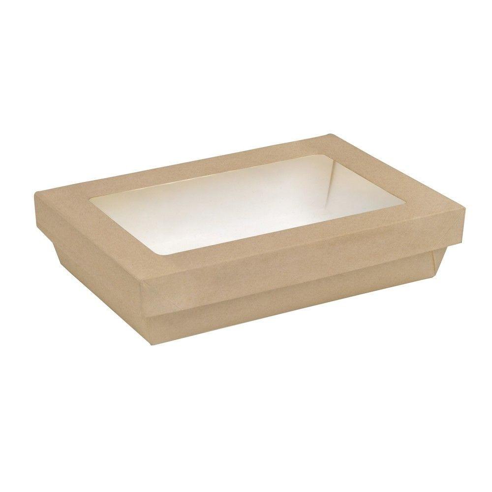 Boîte 'Kray' carton brun avec couvercle 22,5 x 15,5cm 150cl Par 50 unités