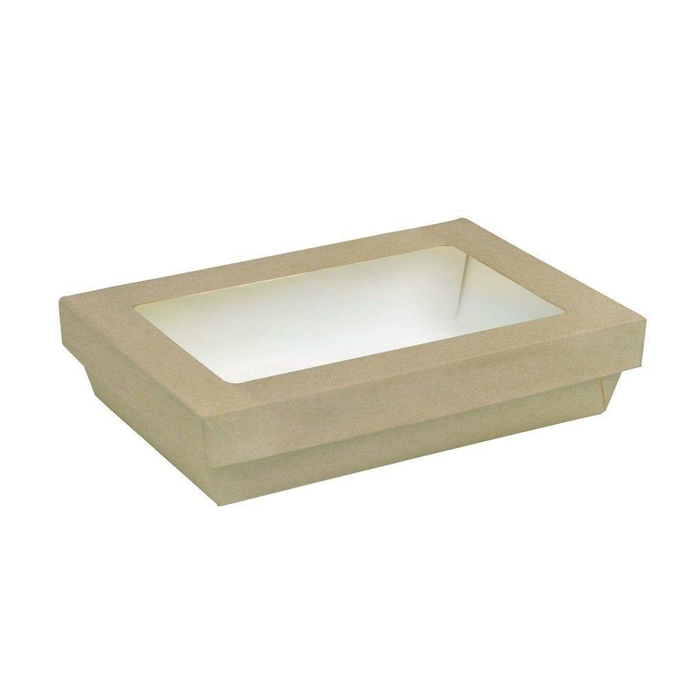 Boîte 'Kray' carton brun avec couvercle 22,5x15,5cm 150cl Par 50 unités