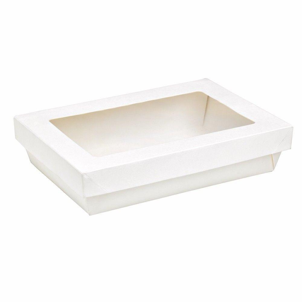 Boîte 'Kray' carton blanc avec couvercle 22,5 x 15,5 cm 150 cl Par 50