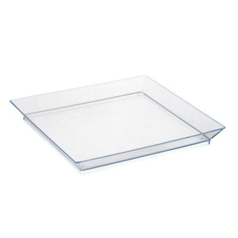 Elément de plateau réutilisable PS vert transparent 'Klarity' 13 x 13 cm Par 50