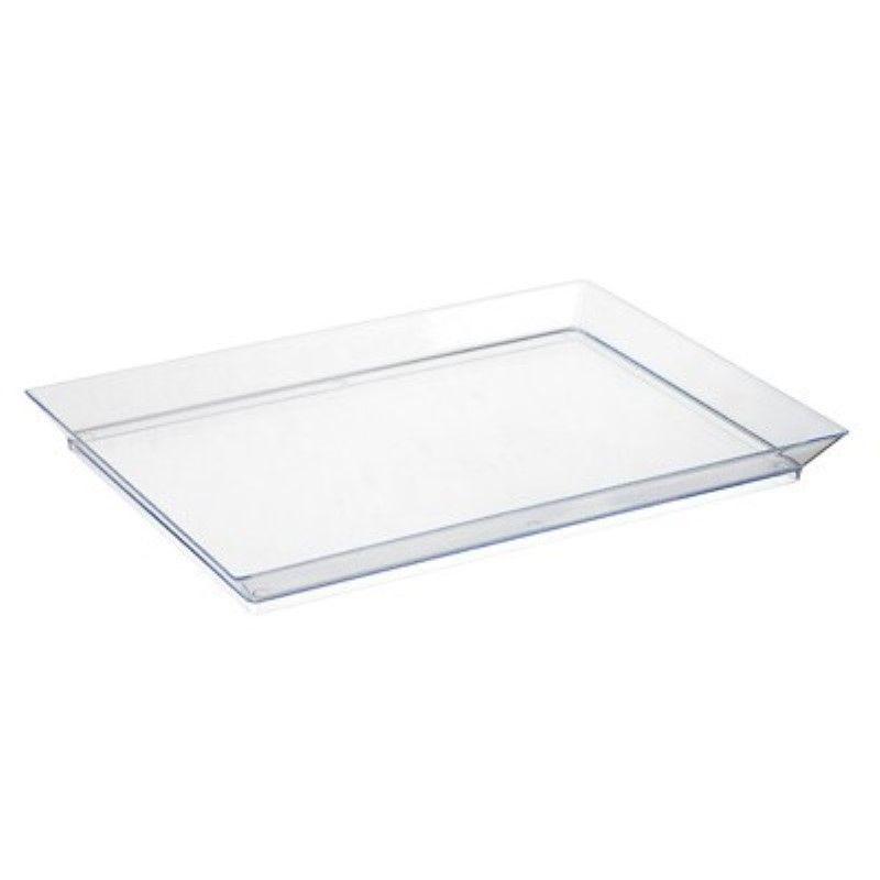 Elément de plateau réutilisable PS vert transparent 'Klarity' 18 x 13 cm Par 50