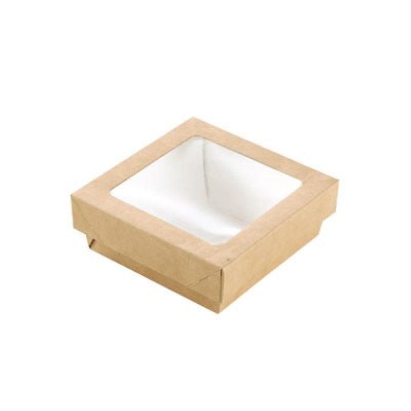 Boîte 'Kray' carton brun avec couvercle 11,5 x 11,5 cm 35 cl Par 25