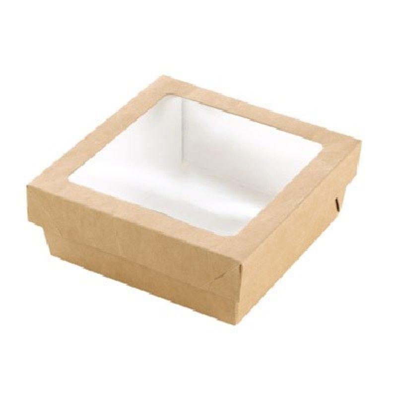 Boîte 'Kray' carton brun avec couvercle 13,5 x 13,5 cm 50 cl Par 25