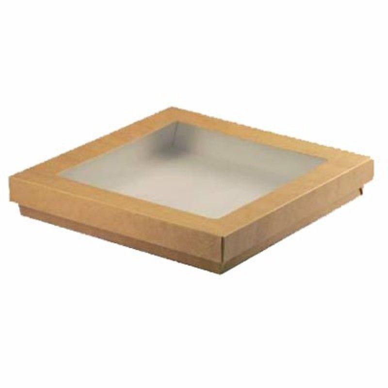 Boîte 'Kray' carton brun avec couvercle 22,5 x 22,5 cm 335 cl Par 25