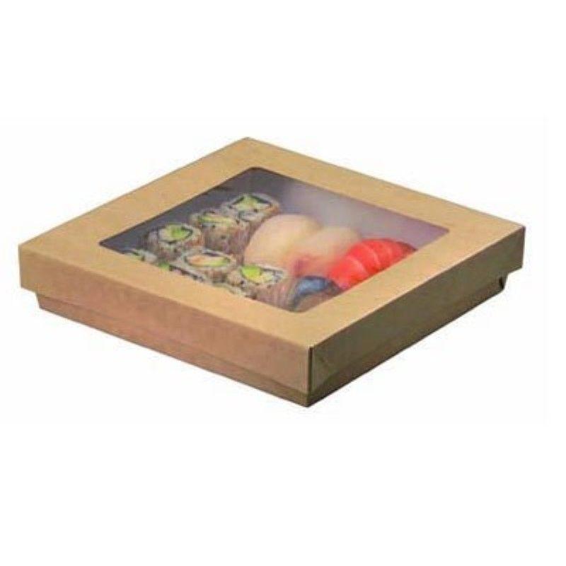 Boîte 'Kray' carton brun avec couvercle 24,5 x 24,5 cm 400 cl Par 25