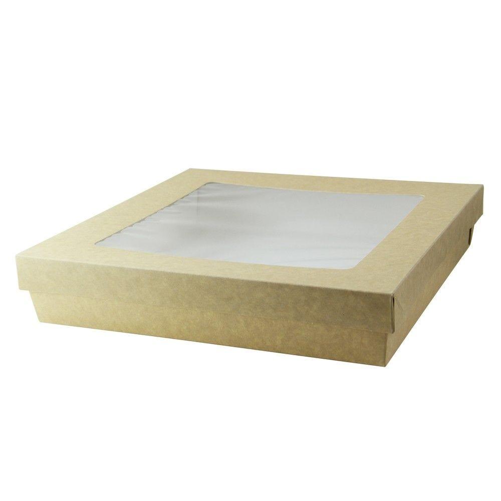 Boîte 'Kray' carton brun avec couvercle 26,5 x 26,5 cm 300 cl Par 25